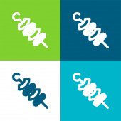 Gril Byt čtyři barvy minimální ikona nastavena