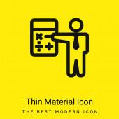 Accountant minimal bright yellow material icon