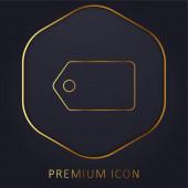 Černý štítek na vodorovné pozici prémiové logo nebo ikona