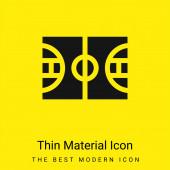 Basketbal minimální jasně žlutý materiál ikona