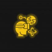 Rozšířená realita žlutá zářící neonová ikona
