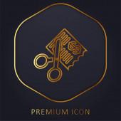 Számlák arany vonal prémium logó vagy ikon