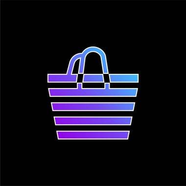 Beach Bag blue gradient vector icon stock vector