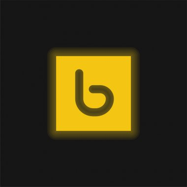 Bebo yellow glowing neon icon stock vector