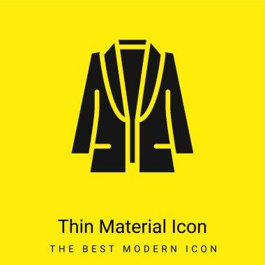 Blazer minimal bright yellow material icon stock vector