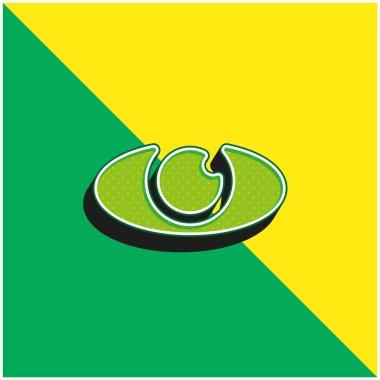 Big Eye Green and yellow modern 3d vector icon logo stock vector