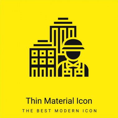 Architecture minimal bright yellow material icon