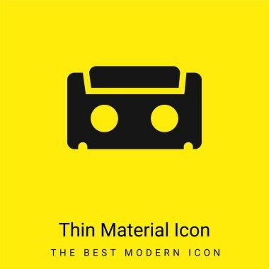 Audiotape minimal bright yellow material icon stock vector