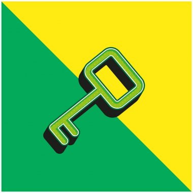 Access Key Green and yellow modern 3d vector icon logo stock vector