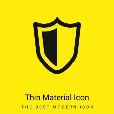 Big Defense Shield minimal bright yellow material icon stock vector