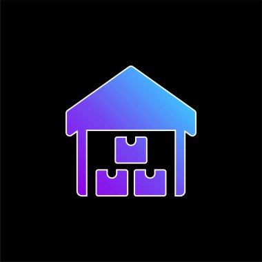 Boxes blue gradient vector icon stock vector