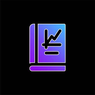 Book blue gradient vector icon stock vector