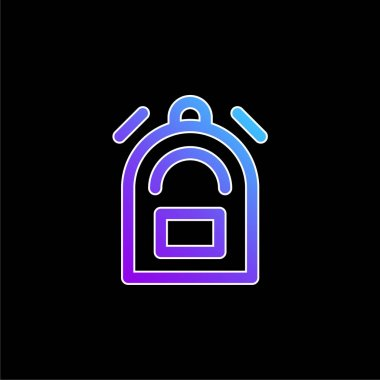 Backpack blue gradient vector icon stock vector