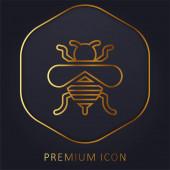 Biene Golden Line Premium-Logo oder Symbol