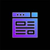 Blaues Vektorsymbol bloggen