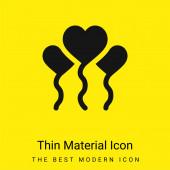 Lufik minimális fényes sárga anyag ikon