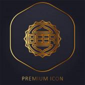 Üvegkupak arany vonal prémium logó vagy ikon