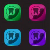 Ernennung vier farbige Glasknopf-Symbol