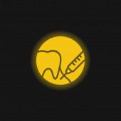 Anästhesiegelb leuchtendes Neon-Symbol