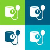 Krevní tlak Byt čtyři barvy minimální ikona nastavena