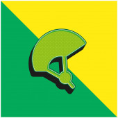 Bike Green and yellow modern 3d vector icon logo