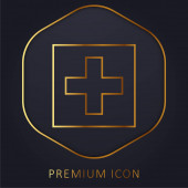 Fügen Sie dieses goldene Linie Premium-Logo oder Symbol hinzu