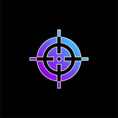 Aim blue gradient vector icon stock vector