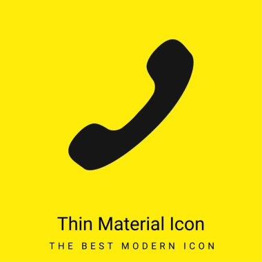 Black Phone Auricular minimal bright yellow material icon stock vector