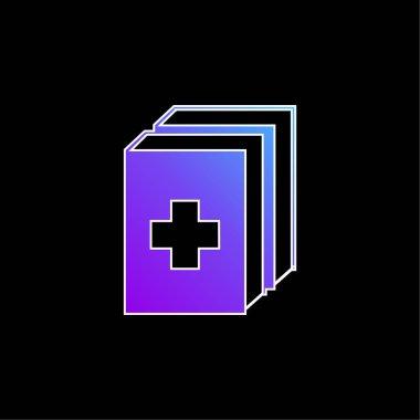 2 Medicine Kit blue gradient vector icon stock vector