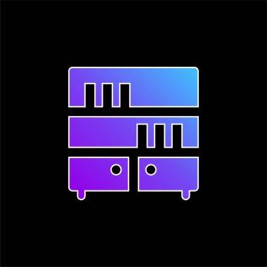 Bookcase blue gradient vector icon stock vector