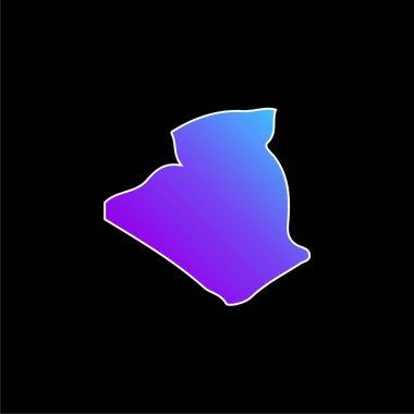 Algeria blue gradient vector icon stock vector