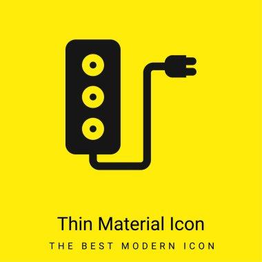 Adaptor minimal bright yellow material icon stock vector