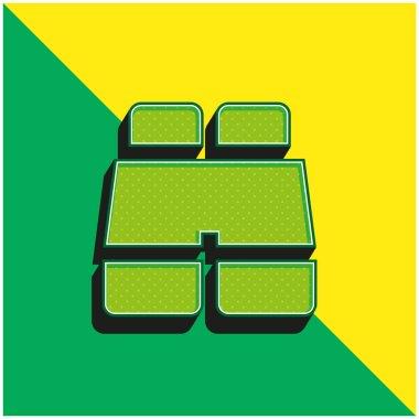 Binocular Green and yellow modern 3d vector icon logo stock vector