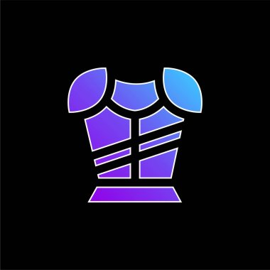 Armor blue gradient vector icon stock vector