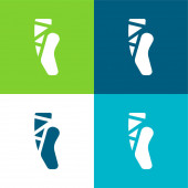 Balet Byt čtyři barvy minimální ikona nastavena