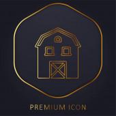Pajta arany vonal prémium logó vagy ikon