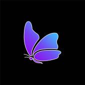 Nagy szárny pillangó kék gradiens vektor ikon