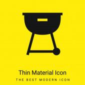 Grill minimális fényes sárga anyag ikon