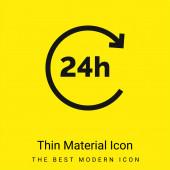 24 óra minimális fényes sárga anyag ikon