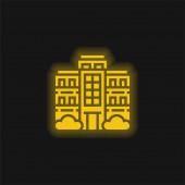 Bytová žlutá zářící neonová ikona