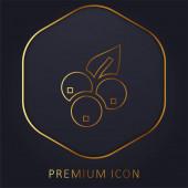 Borůvkové zlaté prémiové logo nebo ikona