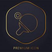 Beach zlatá čára prémie logo nebo ikona