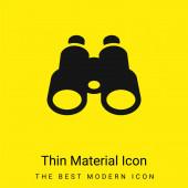 Binokuláry minimální jasně žlutá ikona materiálu