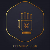 Bionic Hand Gold Line prémie logo nebo ikona