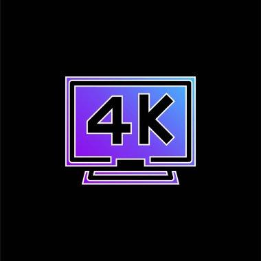 4k blue gradient vector icon stock vector