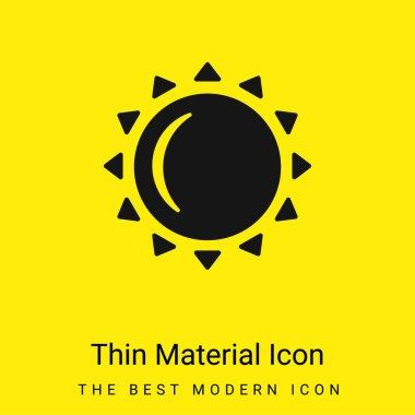 Big Sun minimal bright yellow material icon stock vector