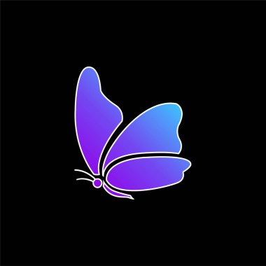 Big Wing Butterfly blue gradient vector icon stock vector