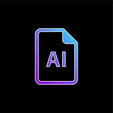 AI File blue gradient vector icon stock vector