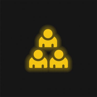 Audience yellow glowing neon icon stock vector