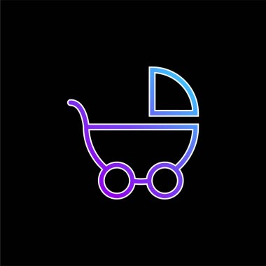 Baby Transport Side View blue gradient vector icon